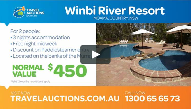 Winbi River Resort Moama Travel Auctions